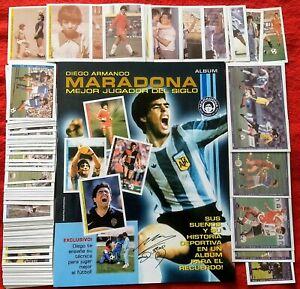 Reedition Maradona Vida Mejor Player Siglo Stickers Empty Album Complete Set