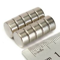 10x Aimant Neodyme Neodymium Puissant Disque Magnets Magnetique 10x5mm N52 Rond
