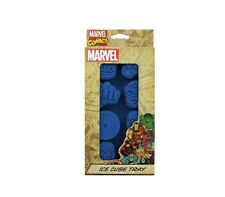 Marvel Comics Blue Flexible Silicone Ice Cube Tray NEW
