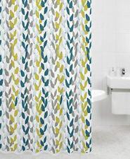 Rideaux de douche vert pour salle de bain