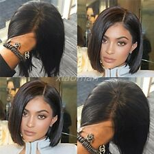 Natural Straight BOB Lace Front Wigs 100 Brazilian Human Hair Short Remy Wig #f