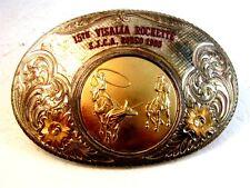 Vintage 1985 SJCA 15th Visalla Rockette Rodeo Belt Buckle