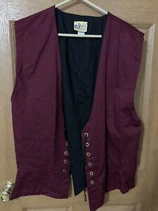 Soft's Stitches Medieval Renaissance LARP Vest Pirate Tunic USA Sz Large