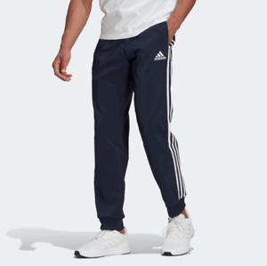adidas Men's Essentials Aeroready Tapered Cuff Woven 3-Stripes Pants