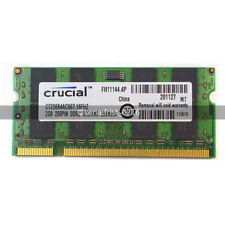 New Crucial 2GB PC2-5300 DDR2 667MHZ 200pin  SODIMM Laptop Memory Ram Non-ECC