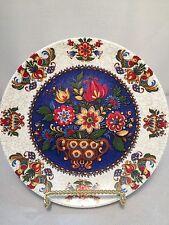 Gorgeous Kurt Hammer Floral Plate - Wall Plate