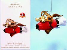 2012 Hallmark Keepsake Looney Tunes Wile E Coyote Rides Again Rocket Xmas Tree