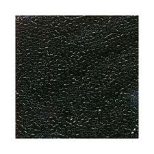 Delica Beads Miyuki 11/0 Seed Beads DB010 Jet Black Opaque Cylinder Tubes