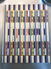 "Yaakov Agam – Serigraph - ""Simeon"" 12 Tribes of Israel 1970 – 45/99 Mint Conditi"