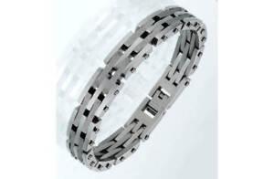 """Stainless Steel Moondust Men's Bracelet, 8.5""""/21.5cm, RRP £29.99"""