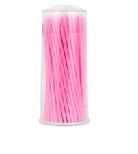Pink SUPER FINE MicroBrush 1 Tube 100pcs Eyelash Extension