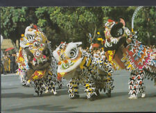 Singapore Postcard - Lion Dance Performed During The Chng-Gay Procession T832