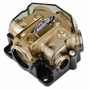 XSCORPION 1 0 2 4 8 Gauge Ground Power Amp Distribution Block Awg GDB10248G Gold