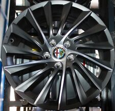 Kit 4 Cerchi in lega Alfa romeo 17 Giulietta 159 Black line Turbina Quadrifoglio