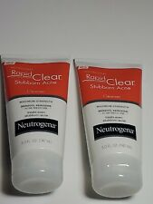 Neutrogena Rapid Clear Stubborn Acne Cleanser 5 oz (Pack of 2) expired