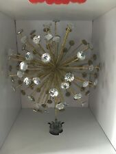 Starburst Tree Topper Twinkling Sparkling Jewels Gold Glitter Starlike Unlit