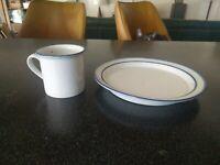 Vintage DANSK DENMARK BLUE MIST SALAD PLATE COFFEE CUP DENMARK  DANISH modern