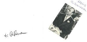 HEINZ RÜHMANN original Autogramm signiertes Albumblatt 70er Jahre