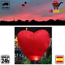 Globo Corazón farolillo volador linterna aeroestático vela fiesta playa *Envío G