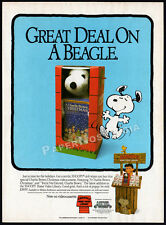 SNOOPY / A Charlie Brown Christmas__Original 1984 print AD / video promo advert