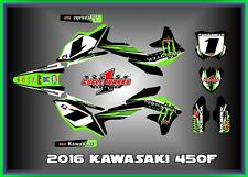 2016 KAWASAKI KX450 KX 450F CUSTOM MUDFLAPS GRAPHIC KITS DECAL