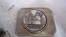 Vintage 1970s *Hearst Castle San Simeon Ca* Commemorative Pewter Belt Buckle