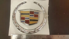 "Cadillac Escalade Grill/trunk wreath Emblem 6.25"" First Quality New"