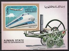 T44966 Ajman Block 402 postfr./mnh 100 Jahre Eisenbahn railway in Japan