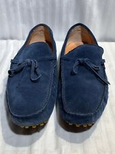 New Republic By Mark McNairy Blue Suede Loafers Moccasins 11M Shoe (N3B-03-104)