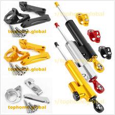 For Suzuki GSXR600/750/1000 Hayabusa CNC Steering Damper Stabilizer + Bracket