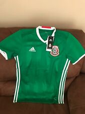 adidas Mexico El Tri 2016 Short Sleeves Green Soccer Jersey NWT Size S Men 609daf1f4c7de