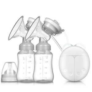 USB Portable Double Electric Breast Suction Adjustable Suction Baby Breast