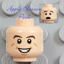 NEW Lego Male Boy Light FLESH MINIFIG HEAD - Ray Stantz w/Smile Teeth Grin 21108