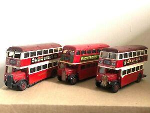 KIT BUS JOB LOT PIRATE GUY UTILITY LONDON SCRAPYARD WHITE METAL MODEL BUS