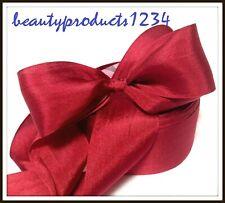 "3 Yards Silk Ribbon 1.25"" Red / Silk Cottage Ribbon 1 1/4"" Inch"