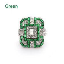 Hot Antique Art Deco Large Jewelry Sapphire & Diamond Ring