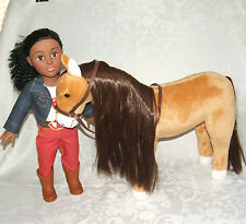 "Madame Alexander African American Doll 18"" Brown Horse Plush Riding Academy Girl"