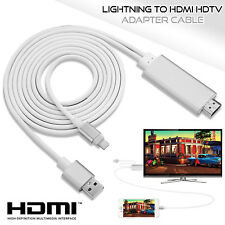 Lightning A Hdmi Cable-Iphone Ipad Pantalla Para Tv Cable Hdmi 1080p Usb Cargador