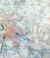 BERLIN GERMANY RAF BOMBING TARGETS IN TWO HISTORIC HARDBACK WAR MAPS 1944