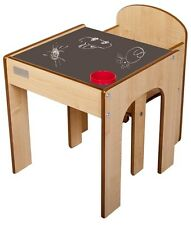 Little Helper Funstation Chalky Toddler Table and Chair Set with Blackboard D...