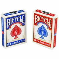 Bicycle Playing Cards DECKS 1 Red & 1 Blue Casino Poker Game Snap Good Quality