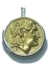 Great Alexander Silver Handmade Artistic ancient greek coin copies pendant