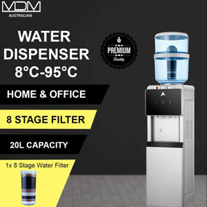 20L Water Cooler Dispenser Hot & Cold Ambient Taps Filter Stand Purifier Bottle
