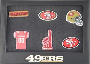 NFL SAN FRANCISCO 49ERS AMERICAN FOOTBALL 6 PIN BADGE SET