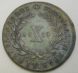 PORTUGAL 10 Reis 1819 - Copper - Joao VI. - VF+ - 1544