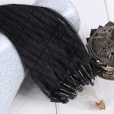 "6A Micro Loop Ring Human Hair Extensions Brazilian Virgin Hair Straight 16""-26"""