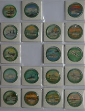 1960's Krun-Chee Potato Chips Warships Coins Almost set of 18 of 20 Green Var.