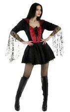 Sexy Nero VEDOVA Vampiressa Gotica Halloween Costume Taglia 8-10 P5844