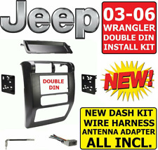 03 04 05 06 JEEP WRANGLER TJ Car Radio Stereo Double Din Dash Kit 95-6541
