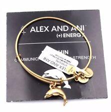 """ALEX AND ANI """"DOLPHIN"""" CHARM BRACELET IN Rafaelian Gold BRAND NWT&MC"""